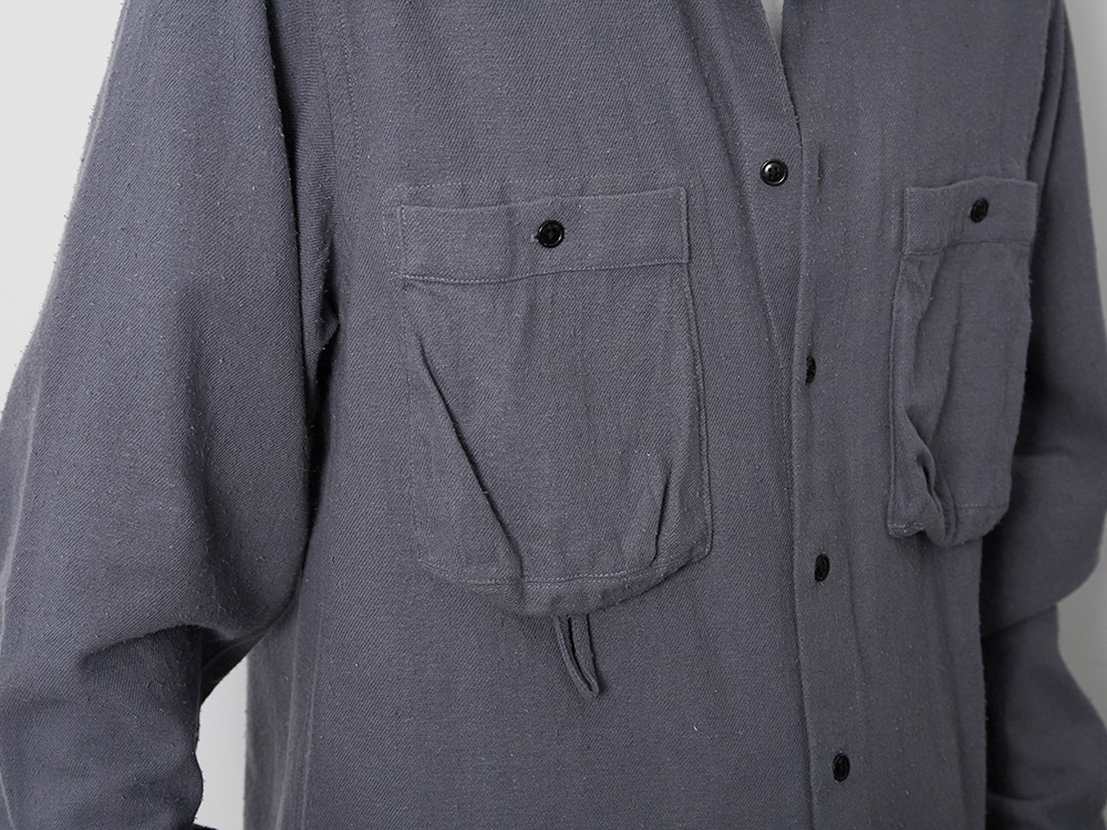Cotton Silk Serge Shirt XL Ecru