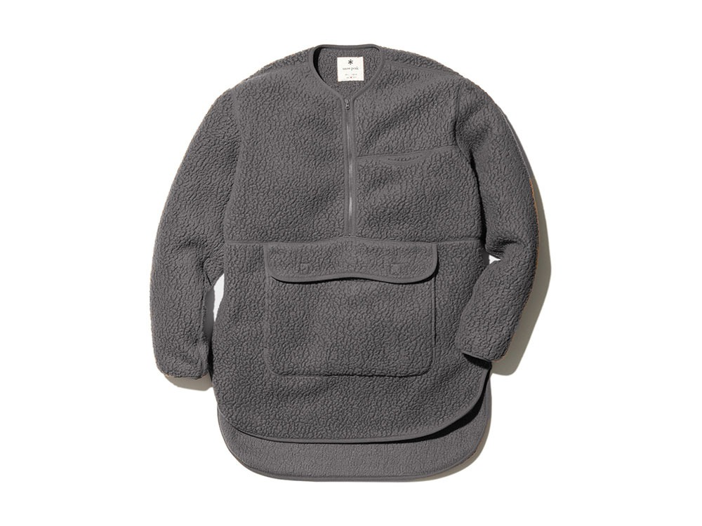 Thermal Boa Fleece Pullover L Grey
