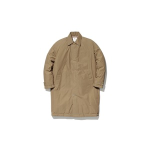 Waxed C/N Down Coat M Brown