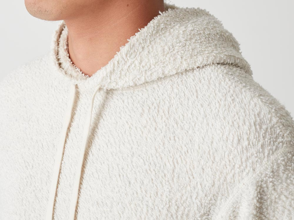 Long Loop Sweat Hoodie M White6