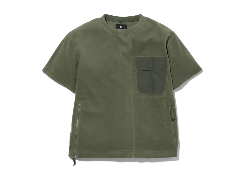 R/Pe Fleece Tshirt 2 Olive0