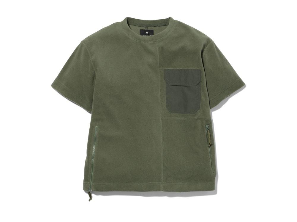 リサイクルポリエステルフリースティーシャツ M オリーブ