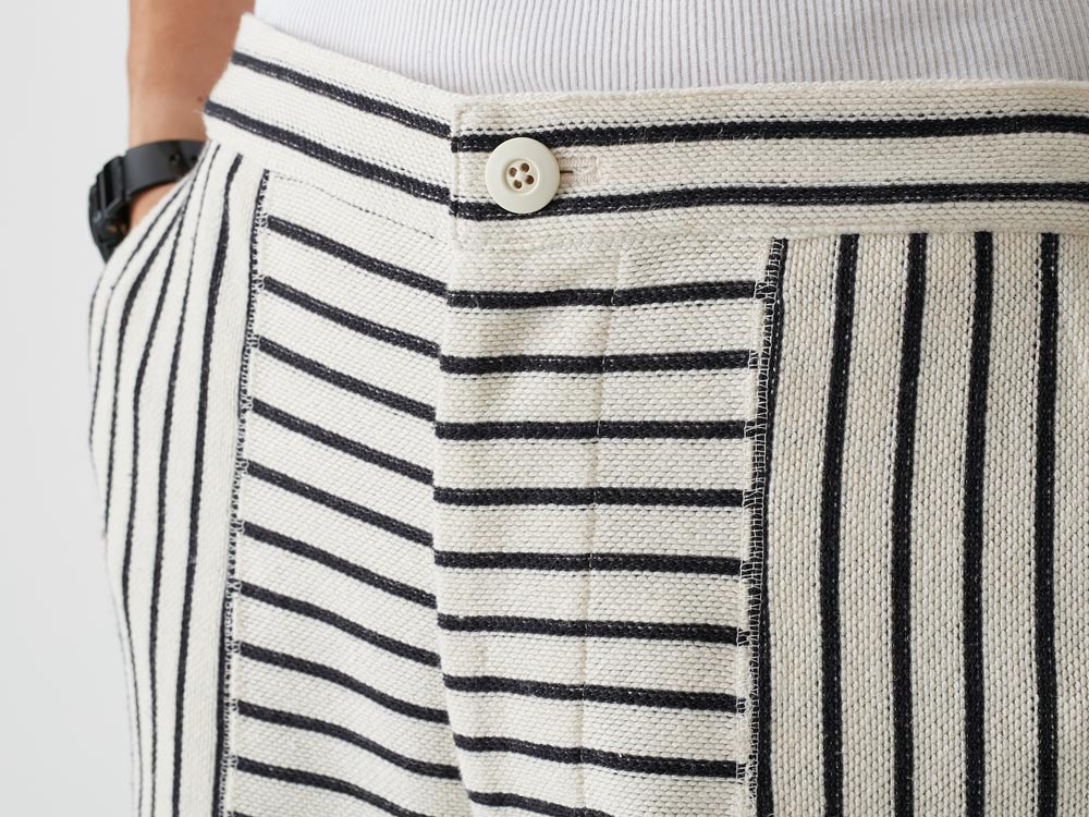 C/L Striped Shorts L Ecru5