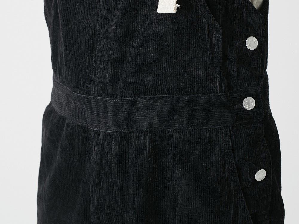 Linen corduroy overalls M Black6