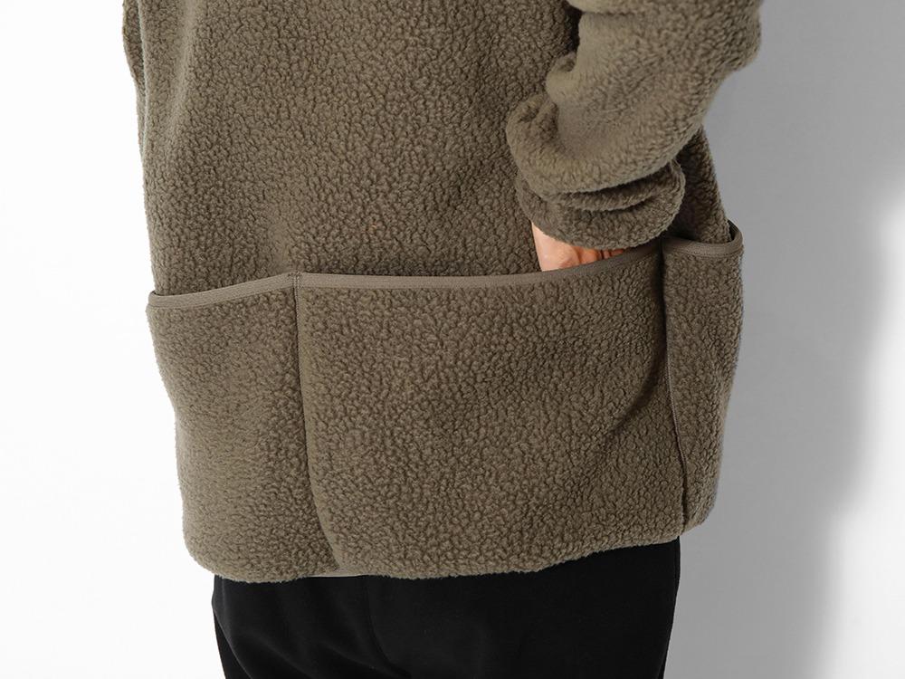 Thermal Boa Fleece Jacket L Khaki