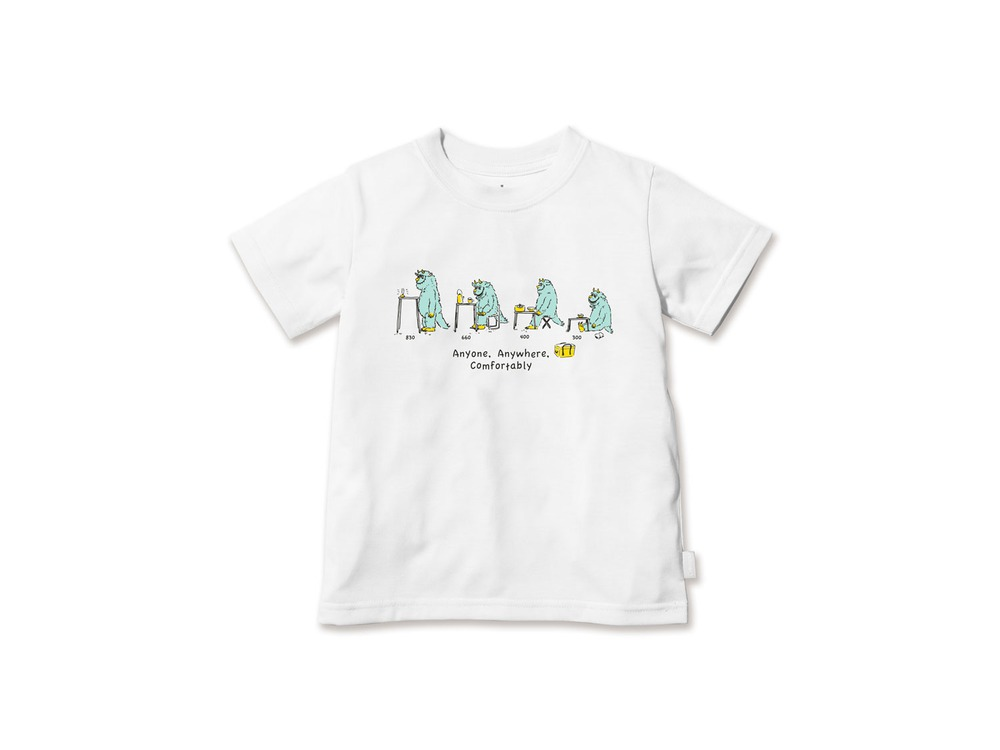 キッズ KKS Tシャツ 1 White