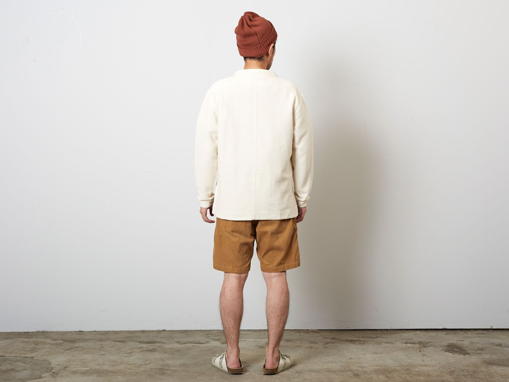CottonLinenStripedAnorak S Brown×Black3