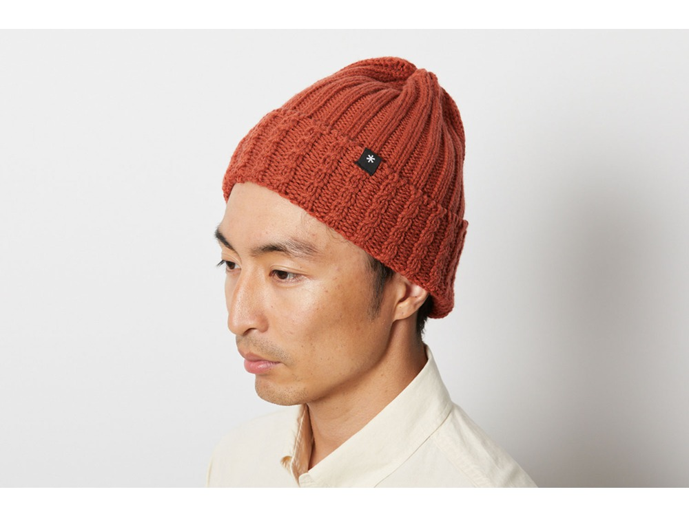 Washable Wool Knitted Cap One Grey