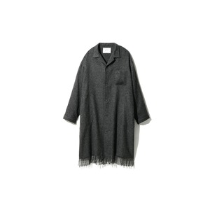 Fringe Coat M Dark Grey