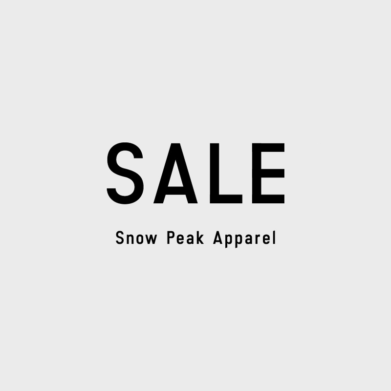 【sp】SALE Snow Peak Apparel
