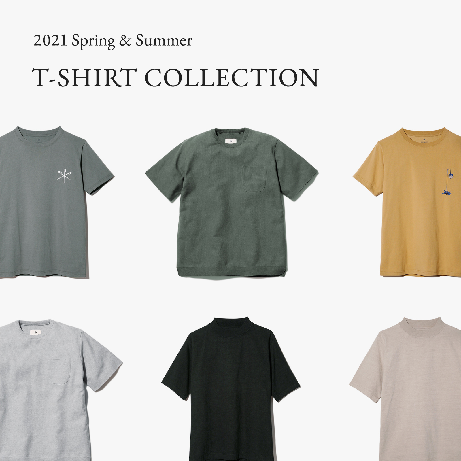 【sp】2021 Spring&Summer T-SHIRT COLLECTION